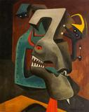 Hugh Mesibov, Dialogue in Armor, 1944, 30 x 24 inches.
