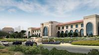 Rendering of the proposed, and turned down, Lucas Cultural Arts Museum for San Francisco's Presidio.