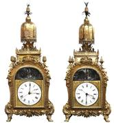 This magnificent pair of rare Chinese ormolu bronze automaton clocks from the Guangzhou Workshop will be offered as a set for $200,000 - 400,000.
