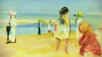 A beach scene by German impressionist Max Liebermann found in Gurlitt's collections.