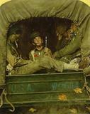 """Willie Gillis in Convoy,"" by Norman Rockwell."