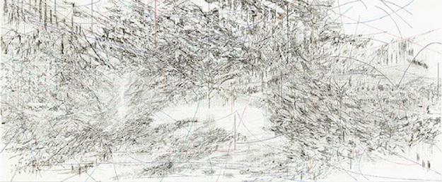 Julie Mehretu, Cairo, 2013.  Ink and acrylic on canvas.