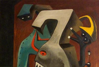 Mesibov, Dialogue in Armor, 1944, 30 x 24 inches