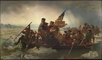 "Emanuel Leutze, ""Washington Crossing the Delaware,"" 1851.  Oil on canvas, 149 x 255 in.  The Metropolitan Museum of Art; Gift of John Stewart Kennedy, 1897 (97.34)"