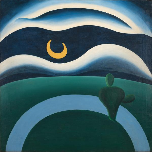 Tarsila do Amaral (Brazilian, 1886-1973).  The Moon (A Lua).  1928.  Oil on canvas, 43 1/3 x 43 1/3 in.  (110 x 110 cm).  The Museum of Modern Art, New York.  Purchase.