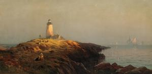 This painting by Edward Moran (1829-1901), titled Cape Ann Lighthouse, is expected to fetch $150,000-$250,000 on October 23rd.