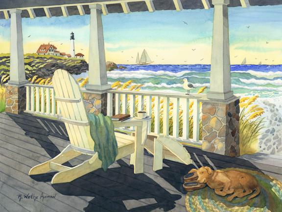 Beach house painting images galleries for Beach houses on the east coast