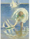 Edmund Tarbell's 1899 oil painting titled Child and Boat at Sotheby's surpassed its estimate of $2,000,000-3,000,000 to fetch an artist auction record of $4.2 million.