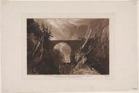 Joseph Mallord William Turner Little Devil's Bridge over the Russ above Altdorft Swiss[lan]d, 1809 Etching and mezzotint Samuel Putnam Avery Collection The Miriam and Ira D.  Wallach Division of Art, Prints and Photographs