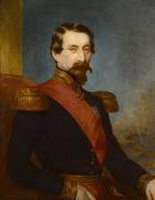 Attributed to famed royal portraitist Franz Xavier Winterhalter, this painting of Napoleon III was commissioned by the Emperor and given to the Marquess of Londonderry, Charles Vane.