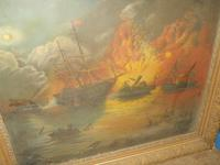 Civil War Painting of Red River Naval Battle