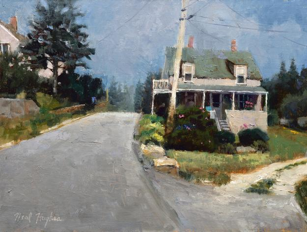 Neal Hughes, House by the Road, oil