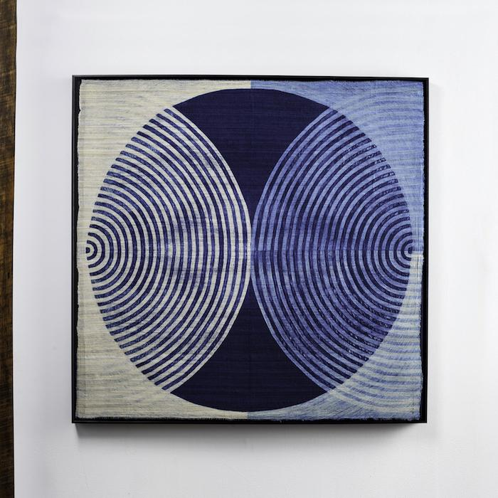 "Neha Puri Dhir, Zazen, 2015, resist dye on silk, 41"" x 41"""