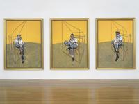 "Francis Bacon's ""Three Studies of Lucian Freud"" brought over $142 million, a world record price at auction for art."