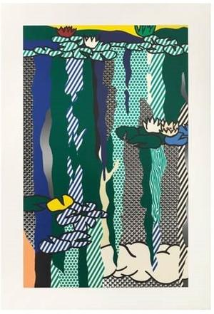 Roy Lichtenstein's Water Lilies with Cloud, 1992, sold for $341,000 Nov.  8 at Heritage in Dallas.