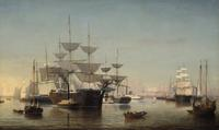 New York Harbor, by Fitz Henry Lane, about 1855.