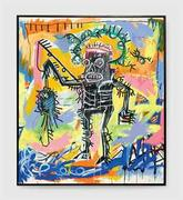 Jean-Michel Basquiat (1960-1988) Untitled, brought an artist auction record of $26,402,500 at Christie's.