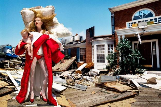Heather Marks by David LaChapelle.  The House at the End of the World, 2005 chromogenic print.  Viktor&Rolf, Bedtime Story ready-to-wear collection, autumn–winter 2005, published in Vogue Italia, October 2005 © David LaChapelle