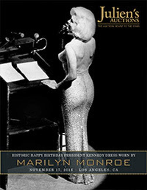 """Happy Birthday Mr.  President"" dress worn by Marilyn Monroe in 1962 when she famously sang to President John F.  Kennedy at Madison Square Garden in New York sold for the record price of $4.81 million to Ripley's Believe it or Not."