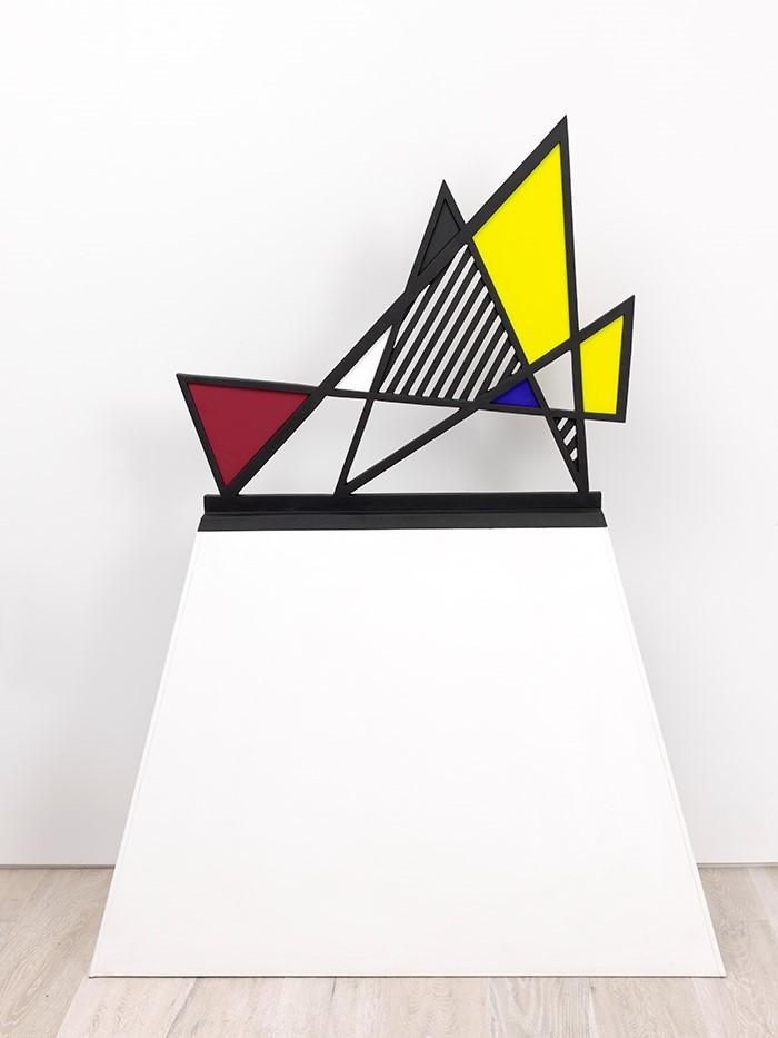 Roy Lichtenstein (1923-1997) Imperfect Sculpture, 1995 Stained cast iron and painted steel plates 30 3/4 (H) x 34 3/4 (W) x 5 (D) inches Edition 5 of 6