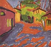 "Karl Schmidt-Rottluff's ""Farm in Dangast"" (1910) will be returned by the city of Berlin to the heir of Robert Graetz, who was killed at Auschwitz.  Source: BPK via Angelika Enderlein."