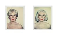 Polaroid self-portraits by Andy Warhol