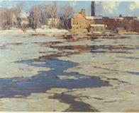 Frozen River, 1917/18; John Folinsbee; 20 x 24 in., oil on canvas; Private Collection.