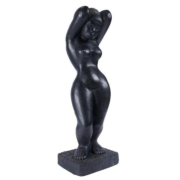 "Hayward Oubre, (American, 1916-2006), Eternal Woman, c.  1956, plaster, 30"" x 9.4""x 8.4"", Provenance: the estate of the artist Exhibitions: Exhibition of Paintings, Sculpture, and Prints, by Negro Artists, Atlanta University Annuals, 1957.  $16,000 - $18,000"