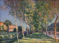 Sisley's Lane of Poplars at Moret.