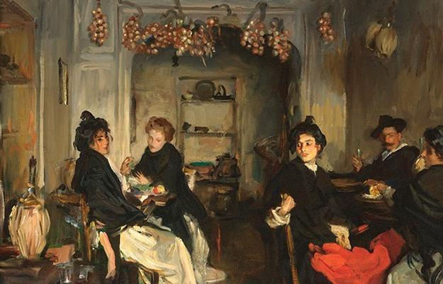 John Singer Sargent (1856-1925), Venetian Tavern, oil on canvas, The James W.  and Frances Gibson McGlothlin Collection