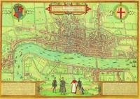 """The Earliest Extant Plan of London"", Braun and Hogenberg, 1572"