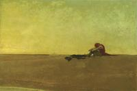 """Marooned,"" 1909.  Howard Pyle (1853-1911).  Oil on canvas, 40 x 60 inches.  Delaware Art Museum, Museum Purchase, 1912."