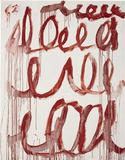 Cy Twombly's Untitled, 2006, sold for $9,042,500 at Phillips de Pury & Company.
