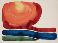 Georgia O'Keeffe, Evening Star II, 1917, Watercolor on paper.