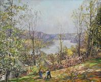 "From the Pearl Buck foundation, ""Spring"" by Edward W.  Redfield, is expected to fetch up to $300,000 at a Freeman's auction on Dec.  4."