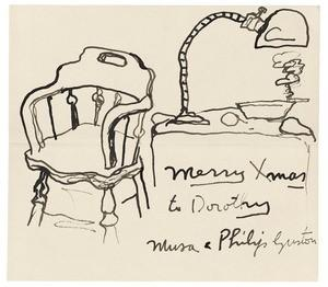 Philip Guston Holiday Card.