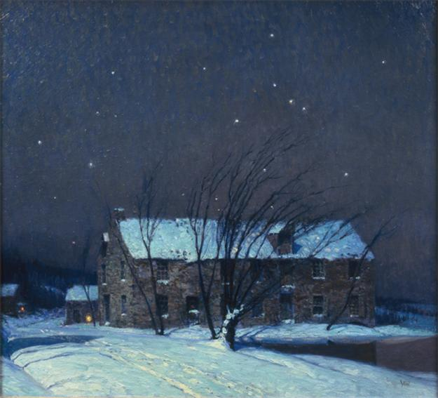 George Sotter (1879-1953), Silent Night, ca.  1932, oil on canvas, H.  36 x W.  40 inches.  Collection of Carol and Louis Della Penna.