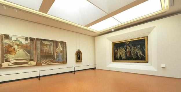 The Botticelli Room, Uffizi Gallery, renovated in 2016 with funds from Friends of Florence.  Courtesy Uffizi Gallery.