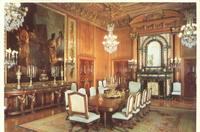 Old postcard of the dining room at The Elms