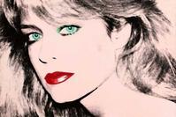 Warhol made two silkscreens of Farrah Fawcett in 1980.