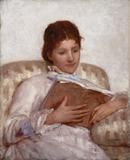 Mary Cassatt, The Reader, 1877.  Oil on canvas, 32 x 25 1/2 in.  (81.3 x 64.8 cm).  Courtesy of Crystal Bridges Museum of American Art.  Photography by Robert LaPrelle