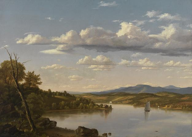 Frederic Edwin Church (American, 1826–1900), River Landscape, ca.  1848.  Oil on canvas.  Gift of Herbert W.  Plimpton: The Hollis W.  Plimpton (Class of 1915) Memorial Collection, 1968.20