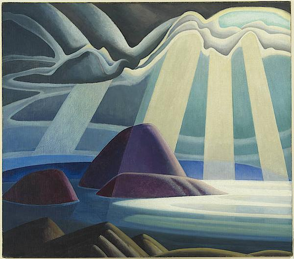 Lawren Harris, Lake Superior, c.  1923.  Oil on canvas.  44 x 49 15/16 in.  (111.8 x 126.9 cm).  The Thomson Collection ©Art Gallery of Ontario ©Family of Lawren S.  Harris.
