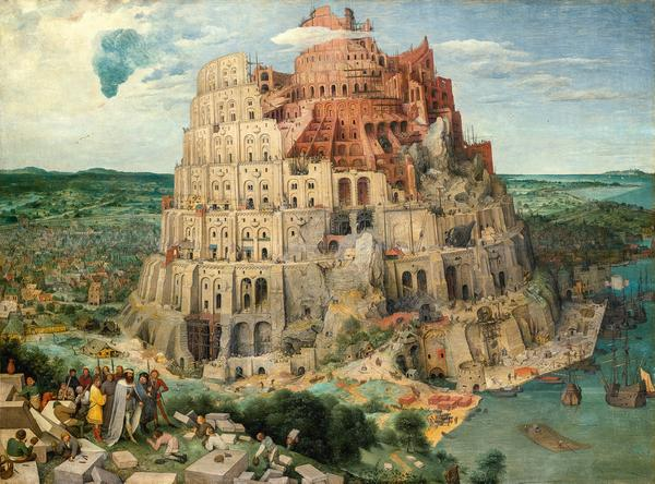 Pieter Bruegel the Elder (c.  1525/30 Breugel or Antwerp? – 1569 Brussels) The Tower of Babel 1563, oak panel, 114 × 155 cm Kunsthistorisches Museum Vienna, Picture Gallery © KHM-Museumsverband