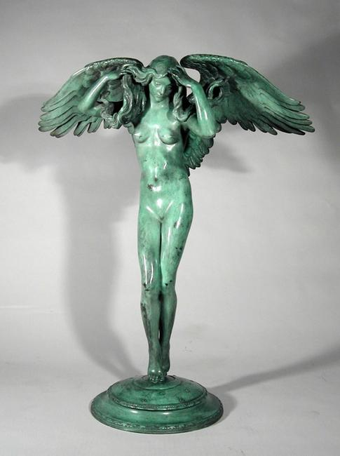 Adolph Alexander Weinman (1870-1952), Descending Night, ca.  1914-1915, bronze sculpture, 26 1/2 x 21 1/12 x 10 in., Collection of Dr.  Michael Nieland.  Photograph courtesy of Conner Rosenkranz