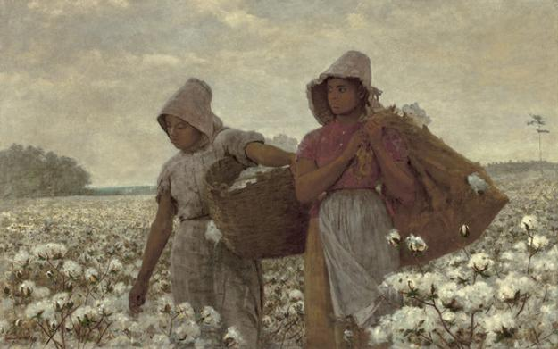 The Cotton Pickers, Winslow Homer, 1876, Oil on canvas 24 1/16 × 38 1/8 in.