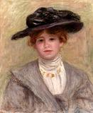 Pierre-Auguste Renoir's Madame Paul Valéry (1904, oil on canvas) .