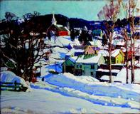 """Winter Sunlight, Londonderry, VT.,"" by Aldro T.  Hibbard"