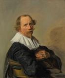 "Frans Hals' ""Portrait of a man,"" half-length, monogram oil on canvas.  Estimate: $700,000-1,000,000."