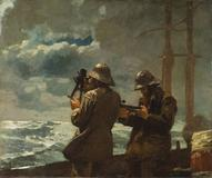 """Winslow Homer's """"Eight Bells,"""" 1886, oil on canvas, anonymous gift, Addison Gallery of American Art."""